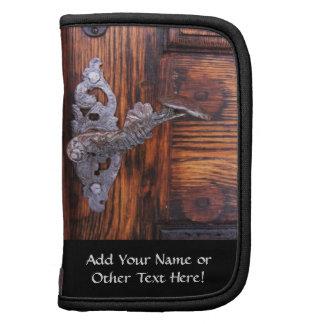 Vintage Door Handle, Aged Wood Real Estate Planner
