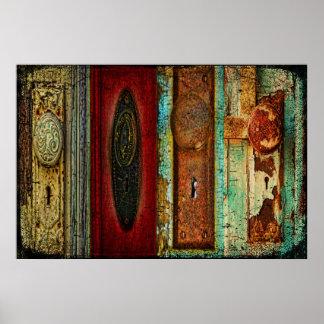 Vintage Door Knob Photography Poster