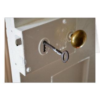 Vintage Door Lock and Key Card