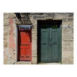 Vintage doors at Historic St. Augustine, Florida Poster