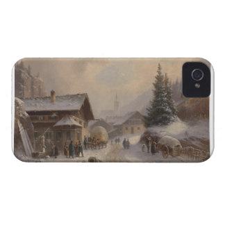 Vintage Dorfstr Germany in Winter iPhone 4 Cover