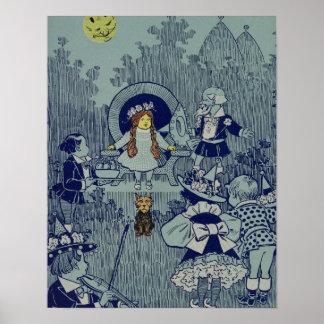 Vintage Dorothy en el mago de Oz Posters