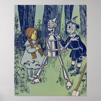 Vintage Dorothy, Tinman, y espantapájaros Impresiones