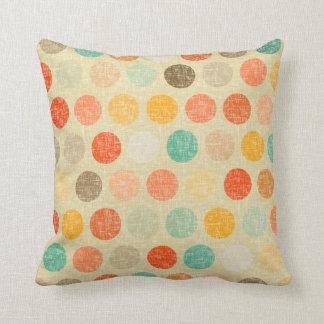 vintage dot throw pillow