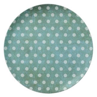 vintage dots plate