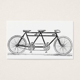 Vintage Double Bicycle Business Card