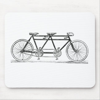 Vintage Double Bicycle Mouse Pad