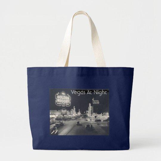 Vintage Downtown Las Vegas Large Tote Bag