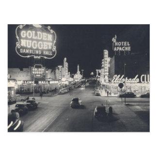 Vintage Downtown Las Vegas Postcard