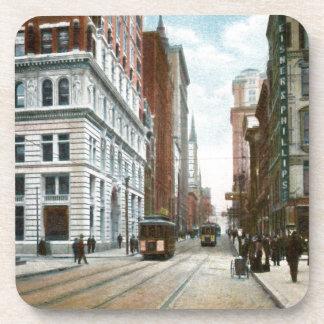 Vintage Downtown Pittsburgh Drink Coaster