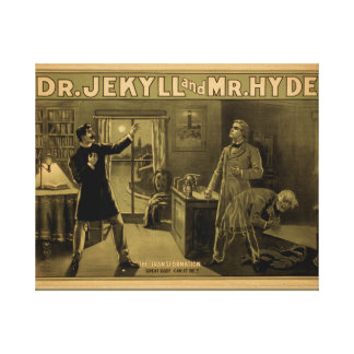 Vintage Dr Jekyll & Mr Hyde Poster 20 x 16 Canvas Print