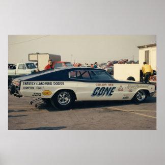 Vintage Drag - 66 Dodge Charger Funny Car Poster