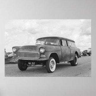 Vintage Drag - Chevy Nomad Gasser - Rolling Stone Poster