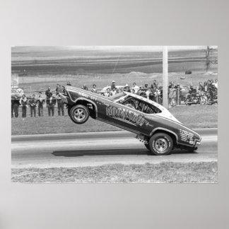 Vintage Drag - Moonshot Chevelle Wheelstander Poster