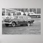 Vintage Drag Racing - 1955 Chevy BelAir Nomadness Print