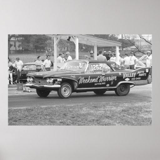 Vintage Drag Racing - 1960 Plymouth Fury Print