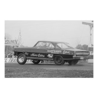 Vintage Drag Racing - 1966 Chevy Nova SS NovaCaine Poster