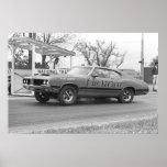 Vintage Drag Racing - 1970 Olds 442 Chesrown Poster