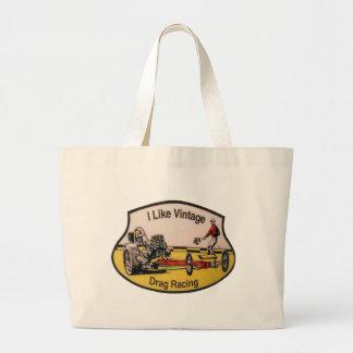 Vintage Drag Racing Canvas Bag