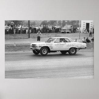 Vintage Drag Racing - Slaton Shaker Chevelle A/FX Poster