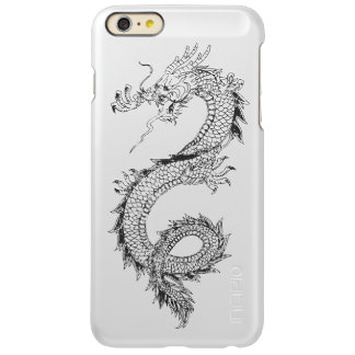 Vintage Dragon Brushed Metal Incipio Feather Shine iPhone 6 Plus Case