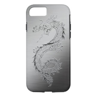 Vintage Dragon Brushed Metal Look iPhone 7 Case
