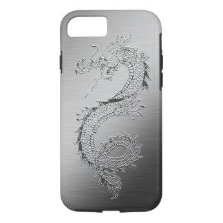 Vintage Dragon Brushed Metal Look iPhone 7 Case
