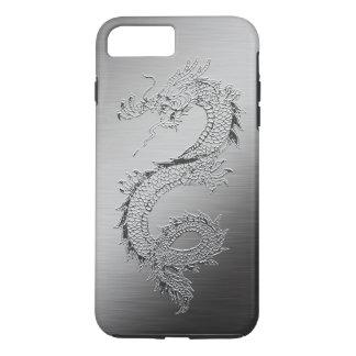 Vintage Dragon Brushed Metal Look iPhone 7 Plus Case