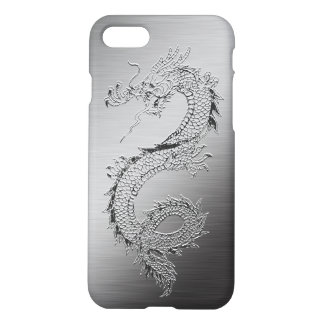 Vintage Dragon Brushed Metal Look iPhone 8/7 Case