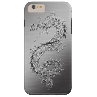 Vintage Dragon Brushed Metal Look Tough iPhone 6 Plus Case
