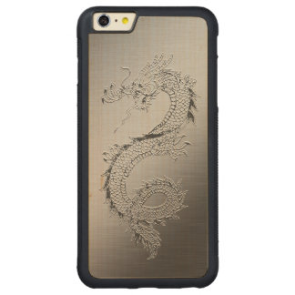 Vintage Dragon Carved Maple iPhone 6 Plus Bumper Case