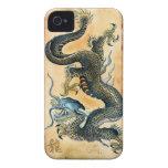 Vintage Dragon on Parchment Asian iPhone 4 Case