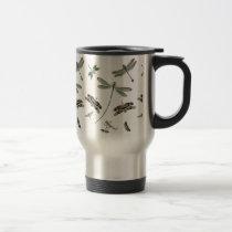 Vintage Dragonflies 15 Oz Stainless Steel Travel Mug