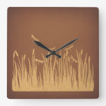 Vintage Dragonflies Art Classic Antique Artwork Square Wall Clock