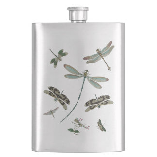 Vintage Dragonflies Flask