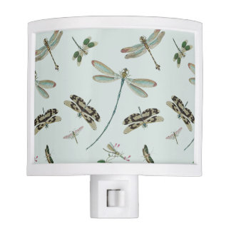 Vintage Dragonflies Night Light