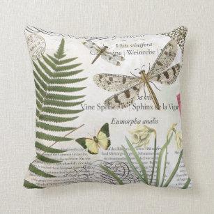 Vintage Dragonflies pillow