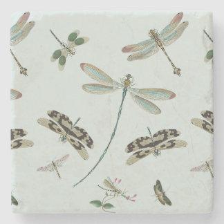 Vintage Dragonflies Stone Coaster