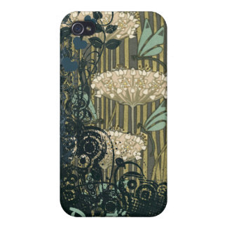 Vintage Dragonfly Art Nouveau Grunge iPhone Cover