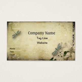 Vintage Dragonfly Business Card Template