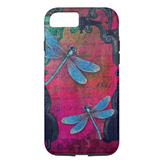 Vintage Dragonfly Collage French Script Decorative iPhone 7 Case
