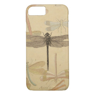 Vintage dragonfly drawing iPhone 8/7 case
