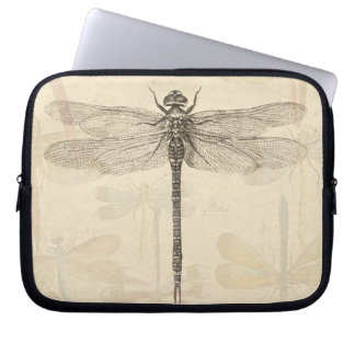 Vintage dragonfly drawing laptop sleeves