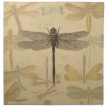 Vintage dragonfly drawing napkins