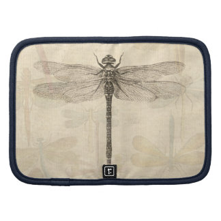 Vintage dragonfly drawing planners