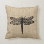 Vintage Dragonfly Pillow
