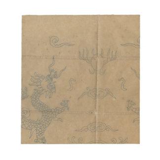 Vintage dragons note pad