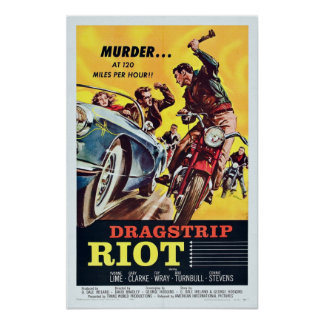 Vintage Dragstrip Riot Movie Poster
