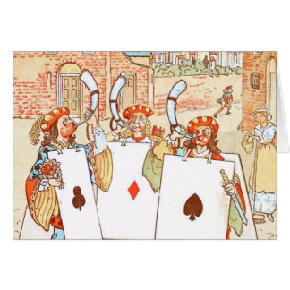 Vintage Drawing: Ace Knights Card