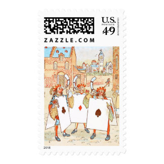 Vintage Drawing: Ace Knights Stamps